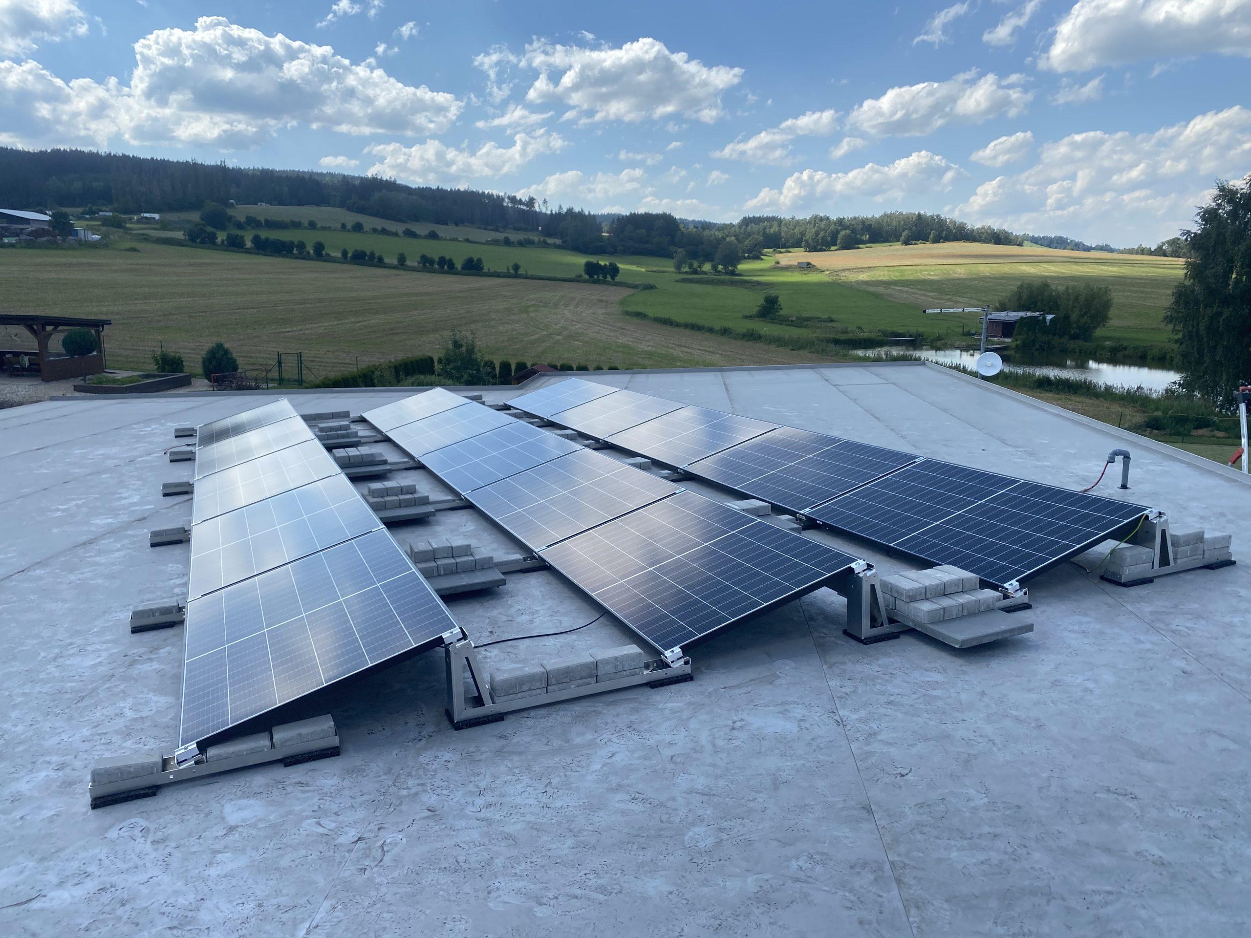 Fotovoltaicke panely rodinný dům Vysočina 3