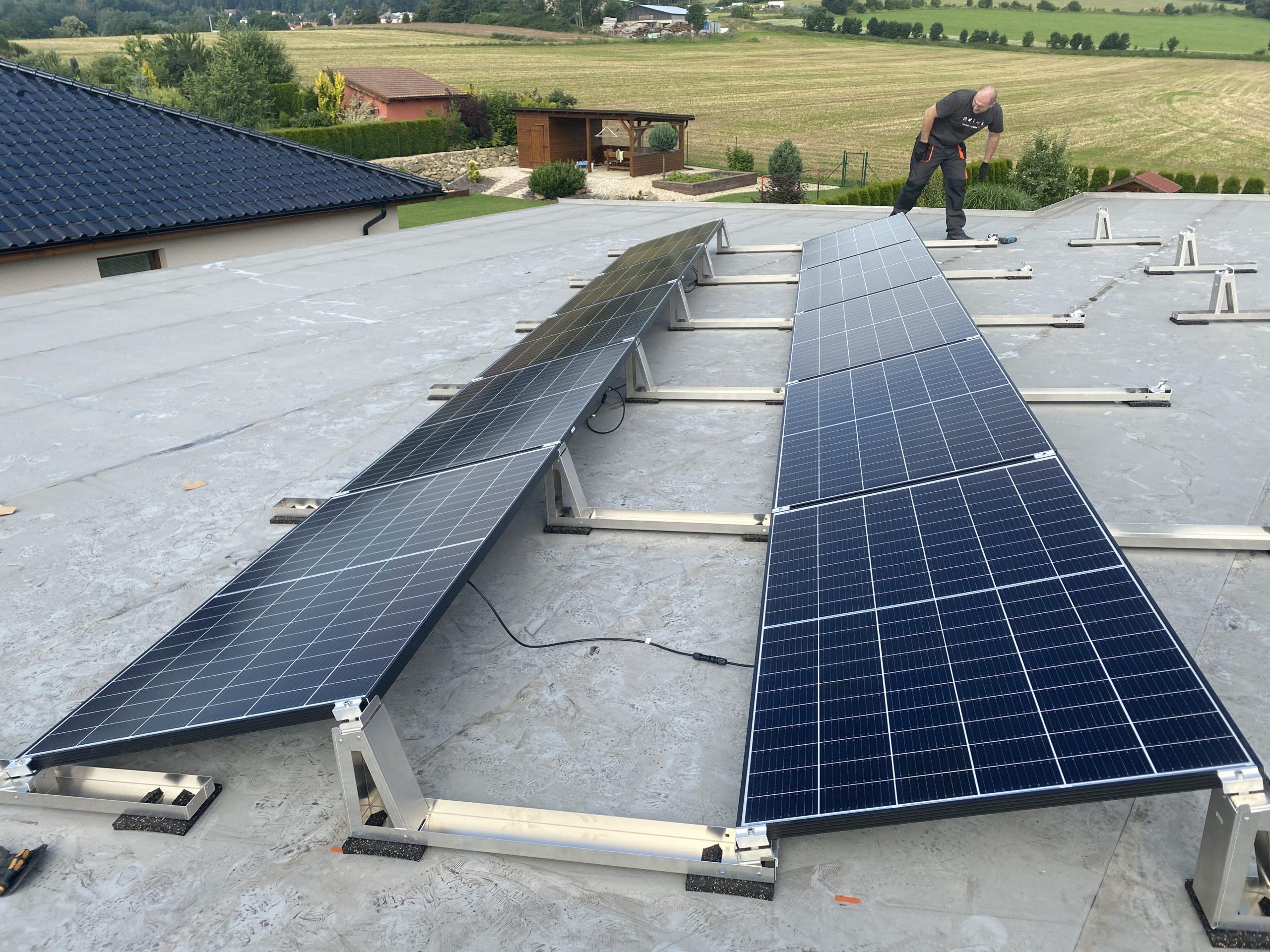 Fotovoltaicke panely rodinný dům Vysočina 2