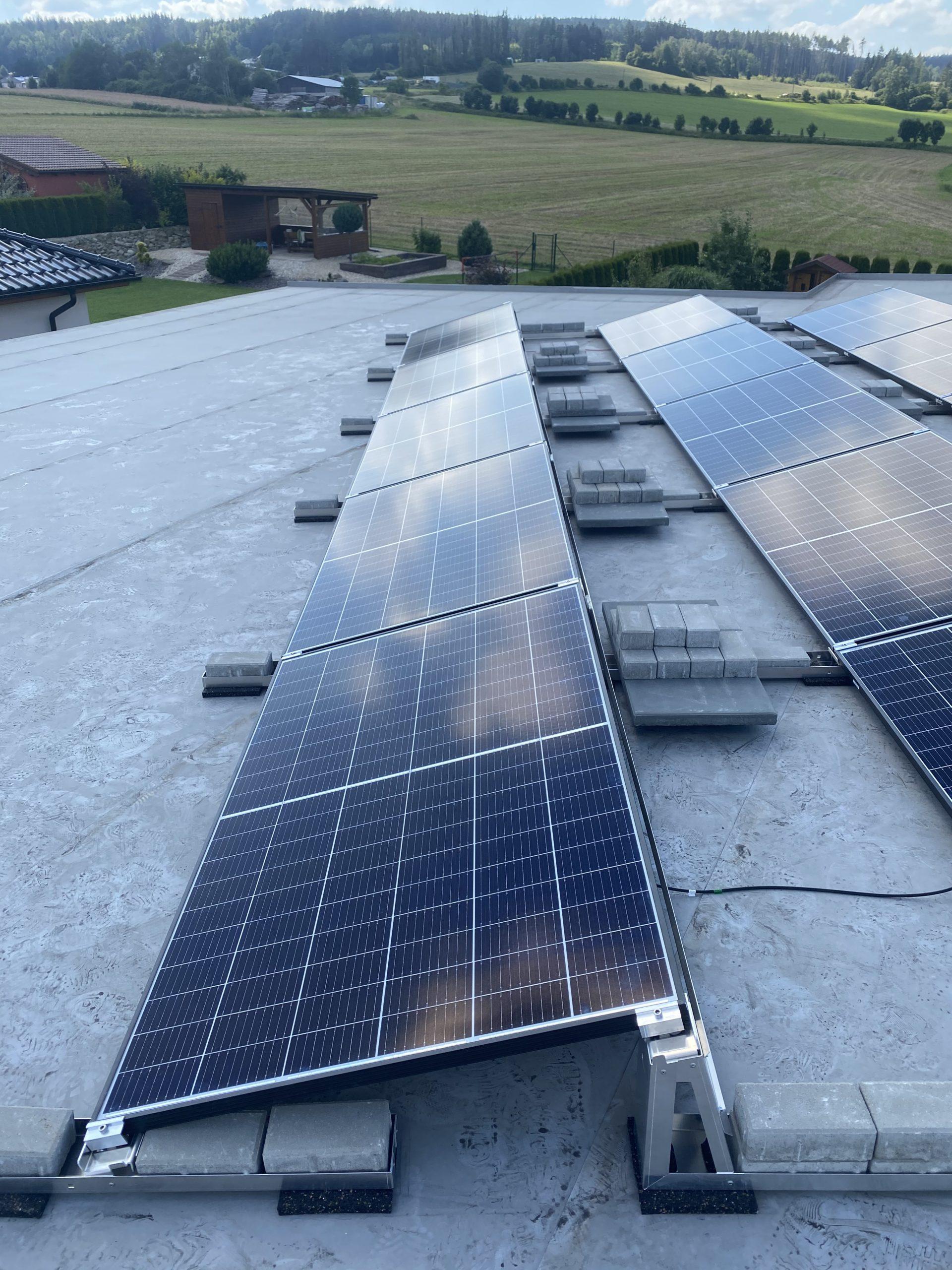 Fotovoltaicke panely rodinný dům Vysočina 1