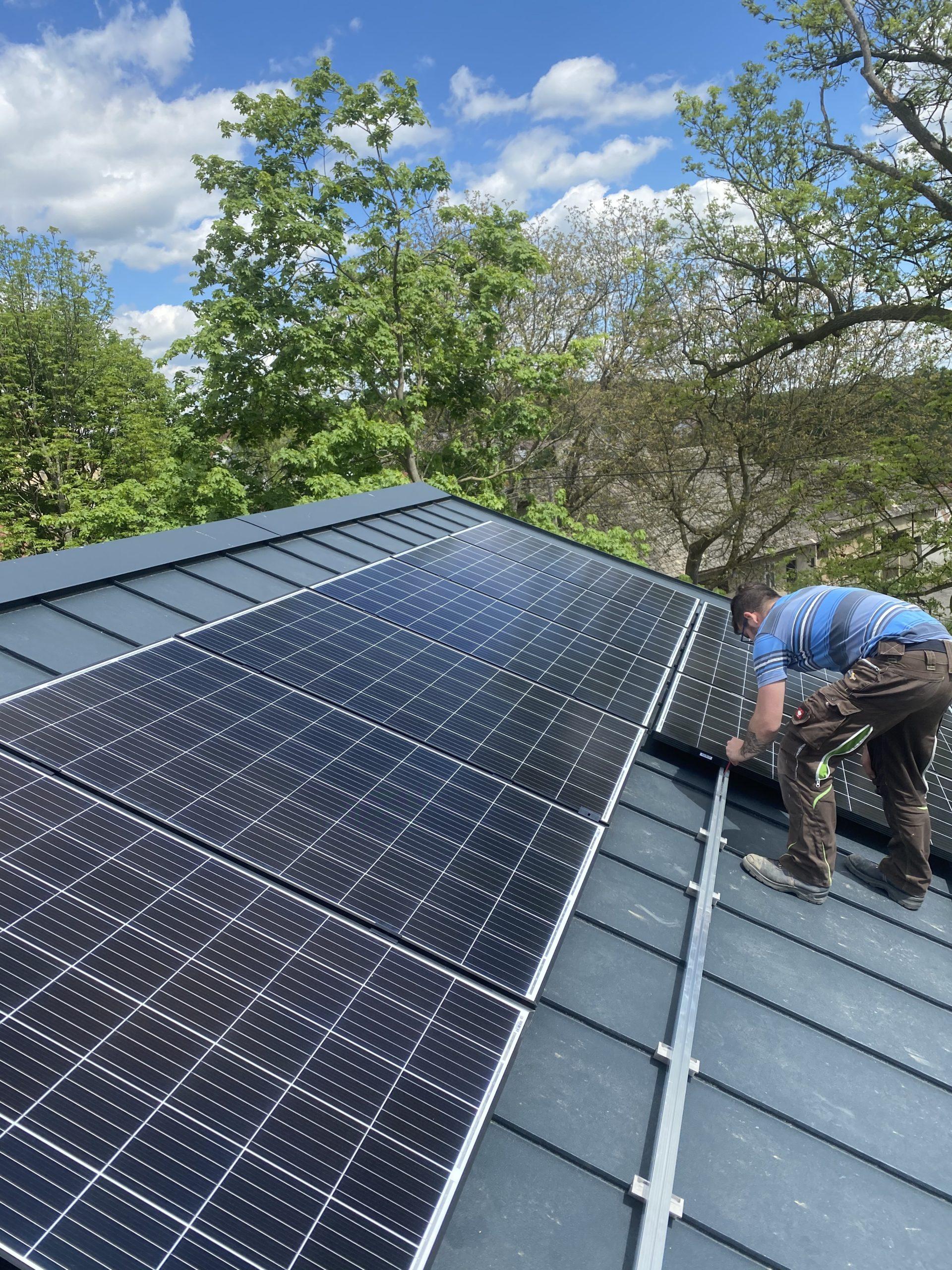 Fotovoltaické panely rodinný dům Rakovník